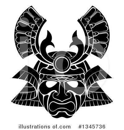 Royalty-Free (RF) Samurai Clipart Illustration by AtStockIllustration - Stock Sample #1345736
