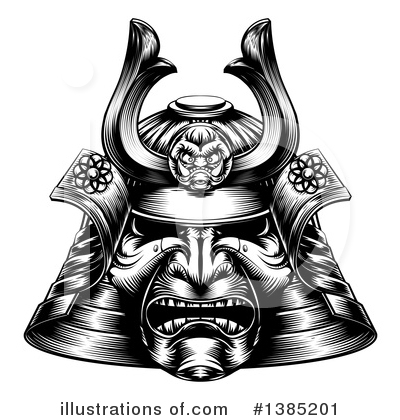Samurai Clipart #1385201 by AtStockIllustration