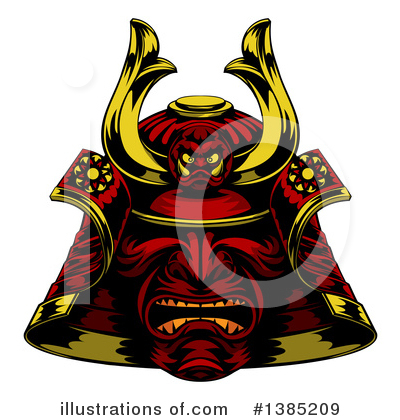 Samurai Clipart #1385209 by AtStockIllustration