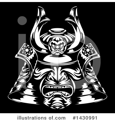 Samurai Clipart #1430991 by AtStockIllustration
