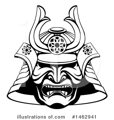 Samurai Clipart #1462941 by AtStockIllustration