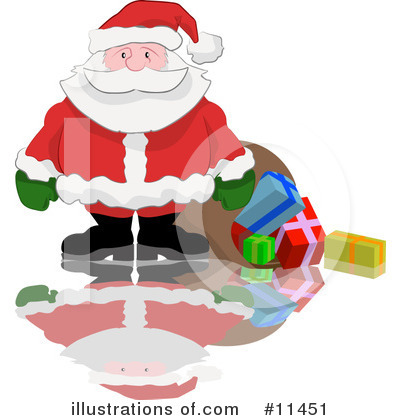 Santa Clipart #11451 by AtStockIllustration