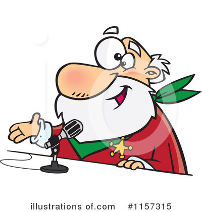 Santa Clipart #1157315 by toonaday