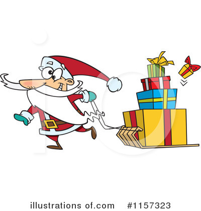 Santa Clipart #1157323 by toonaday