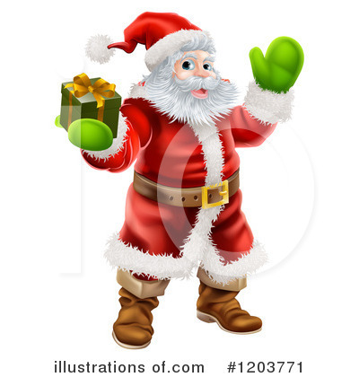 Santa Clipart #1203771 by AtStockIllustration