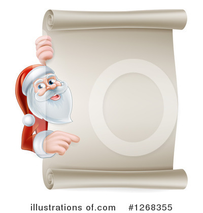 Santa Clipart #1268355 by AtStockIllustration