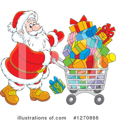 Christmas Shopping Clipart #1270866 by Alex Bannykh