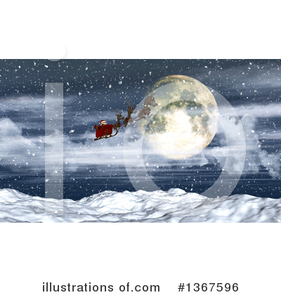Royalty-Free (RF) Santa Clipart Illustration by KJ Pargeter - Stock Sample #1367596