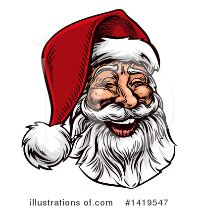 Santa Clipart #1419547 by AtStockIllustration