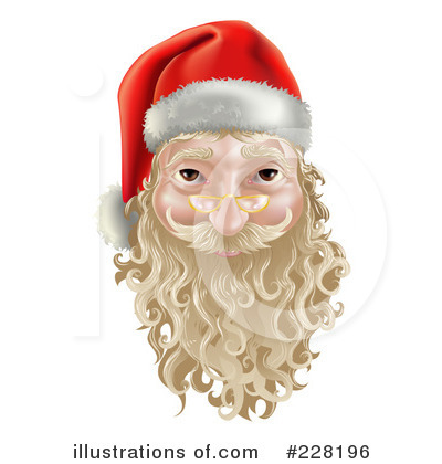 Santa Clipart #228196 by AtStockIllustration