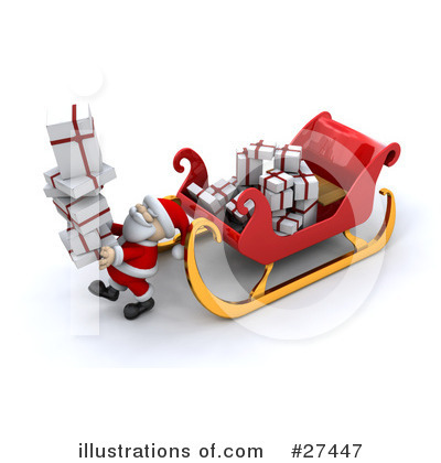 Royalty-Free (RF) Santa Clipart Illustration by KJ Pargeter - Stock Sample #27447