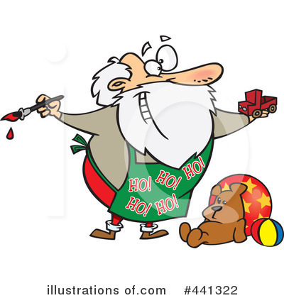 Royalty-Free (RF) Santa Clipart Illustration by toonaday - Stock Sample #441322