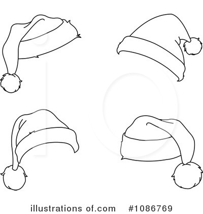 Santa Hat Clipart #1086769 - Illustration by yayayoyo