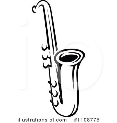 saxophone clipart 1108775 illustration by vector tradition sm rh illustrationsof com