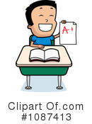School Boy Clipart #1087413 by Cory Thoman