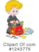 School Boy Clipart #1243779 by Alex Bannykh