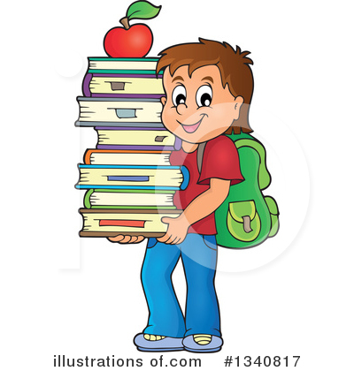 School Boy Clipart #1340817 by visekart