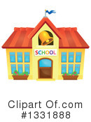 School Building Clipart #1331885 - Illustration by visekart