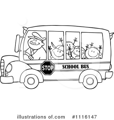 School Bus Clipart 1116147 Illustration By Hit Toon
