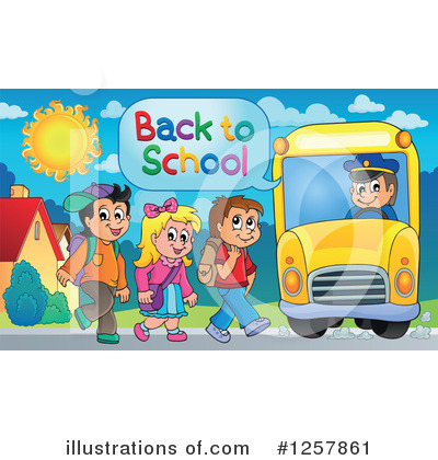School Bus Clipart #1257861 by visekart