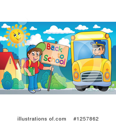 School Bus Clipart #1257862 by visekart