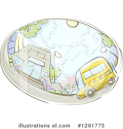 School Bus Clipart #1291775 by BNP Design Studio
