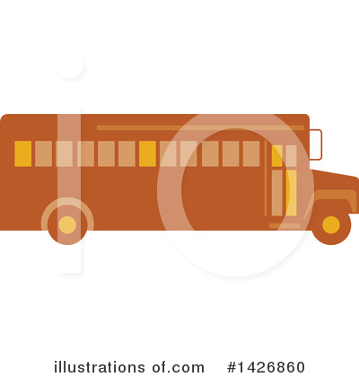 Royalty-Free (RF) School Bus Clipart Illustration by patrimonio - Stock Sample #1426860