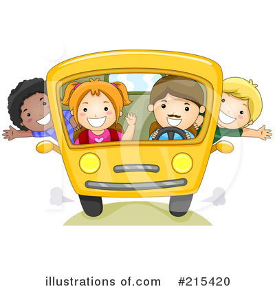 Royalty-Free (RF) School Bus Clipart Illustration by BNP Design Studio - Stock Sample #215420
