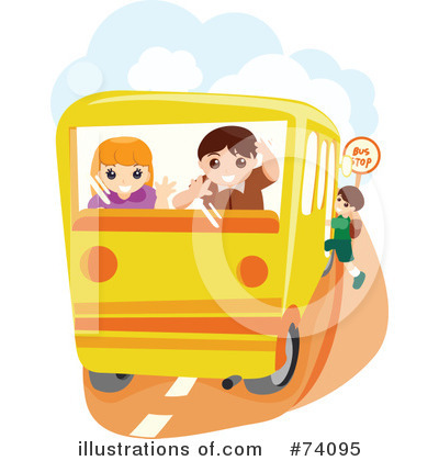 School Bus Clipart #74095 by BNP Design Studio