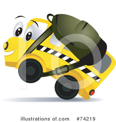 School Bus Clipart #74219 by BNP Design Studio
