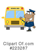 School Bus Driver Clipart #223287 by Hit Toon