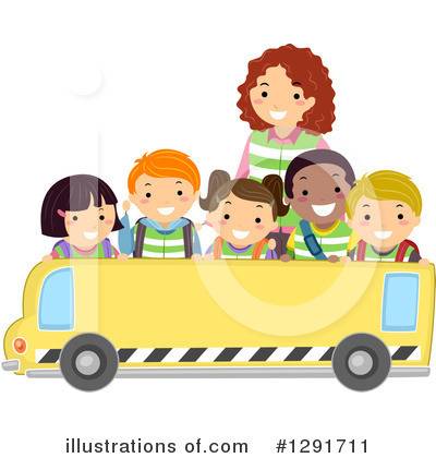 School Bus Clipart #1291711 by BNP Design Studio