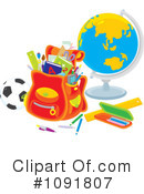 School Clipart #1091807 by Alex Bannykh