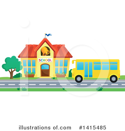 School Bus Clipart #1415485 by visekart