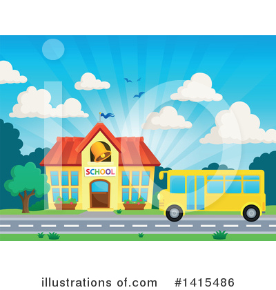 School Bus Clipart #1415486 by visekart