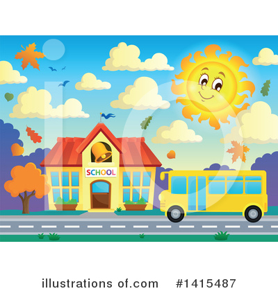 School Bus Clipart #1415487 by visekart
