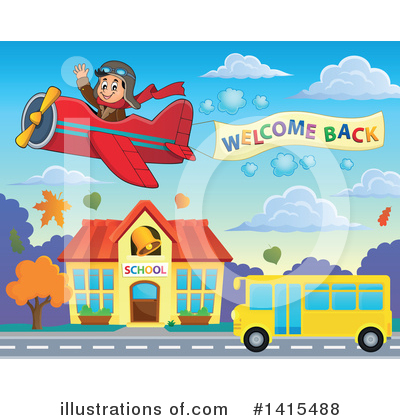 School Bus Clipart #1415488 by visekart