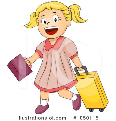 School Girl Clipart #1050115 - Illustration by BNP Design Studio