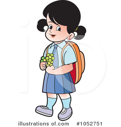 school girl clipart 1052751 illustration by lal perera rh illustrationsof com school girl clipart png school girl clipart black and white