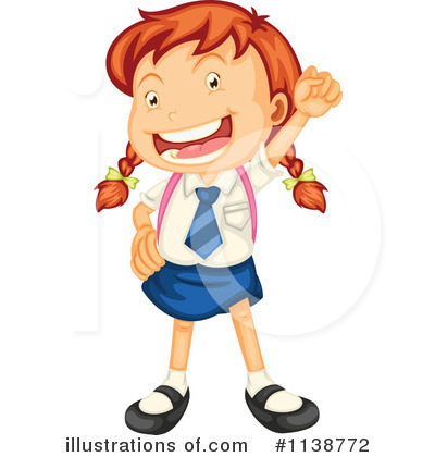 school girl clipart 1138772 illustration by graphics rf rh illustrationsof com school girl clipart black and white middle school girl clipart