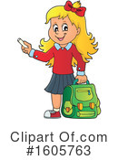 School Girl Clipart #1605763 by visekart