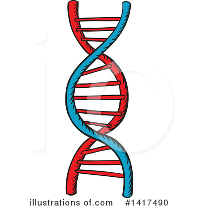 Dna Clipart #1417490 by Vector Tradition SM