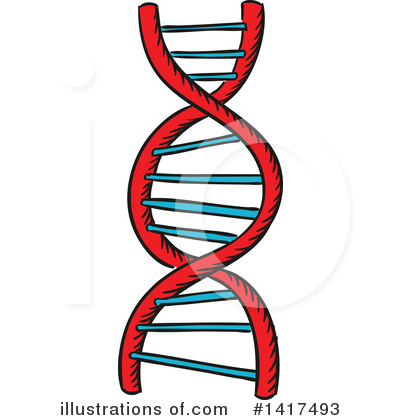Dna Clipart #1417493 by Vector Tradition SM