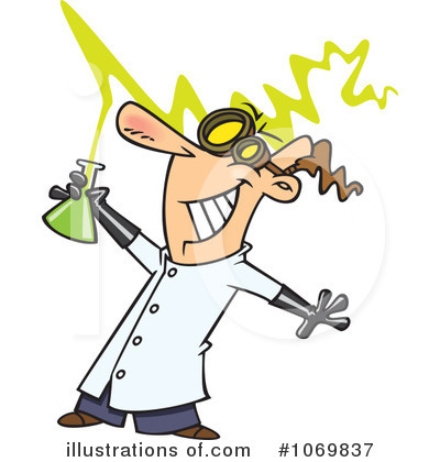Scientist Clipart #1069837 - Illustration by toonaday