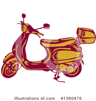 Motorcycle Clipart #1360976 by patrimonio