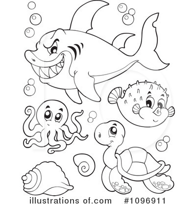 Sea Life Clipart #1096911 - Illustration by visekart