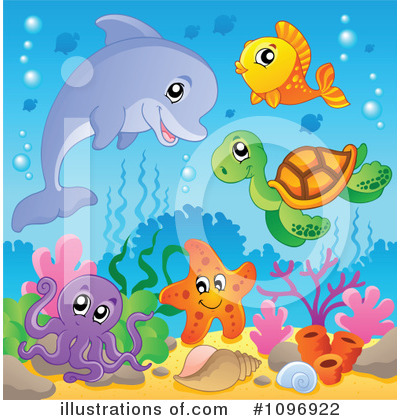 Sea Turtle Clipart #1096922 by visekart