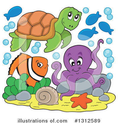 Sea Turtle Clipart #1312589 by visekart