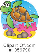 Sea Turtle Clipart #1059790 by visekart