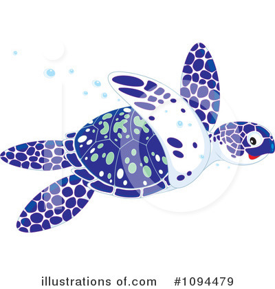 Sea Turtle Clipart #1094479 by Alex Bannykh